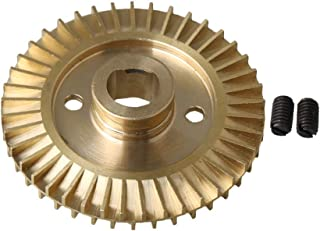 Yibuy Water Pump Brass Impeller Wheel Double Side 60mm Dia 12mm Inner Hole