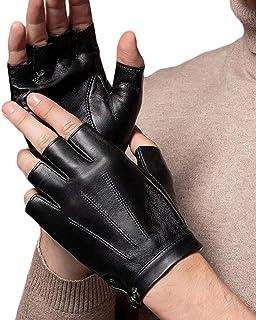 Best Fingerless Driving Gloves PU Faux Leather Outdoor Sport Half Finger Glove for Men Women Teens Review