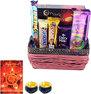 Astonished Retail Creamy Dairy Milk Silk Roasted Almond , Dark Fantasy With Designer Basket Gift | Premium Diwali Chocolat...
