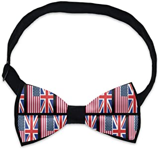 Bow Ties For Boys and Men with Adjustable Neck Band Strap Satin Tuxedo Pre-Tied