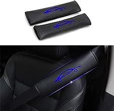 DBL for Honda Car Seat Belt Shoulder Cover 4D Carbon Fiber Auto Seatbelt Comfort Safety Strap Protect Pads Reflective Stickers for Travel 2Pcs (Blue)