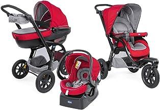Chicco Trio Activ3 Kinderwagen 3 in 1 Modulares Baby Travel System mit Kit Car, 3-Rad..