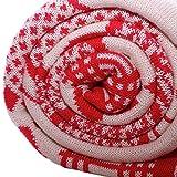 Baby-Decke aus 100% Bio Baumwolle kba Rot 110 x 140 cm