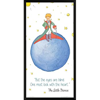 Amazon Com The Little Prince Book Cover Quote Antoine De Saint Exupery Children S Kids Literary Literature Classic Book Cover Decorative Classroom Art Poster Print Unframed 12 X 12 Print Posters Prints