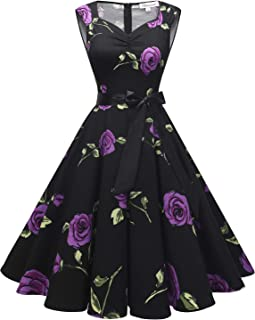 Gardenwed 50 Anni Abito Vintage per Donne Senza Maniche Party Classic Rockabilly Cocktail