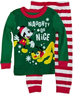 c1b69d830d Disney Toddle Little Boys Mickey Mouse   Pluto Naughty or Nice Cotton  Pajamas
