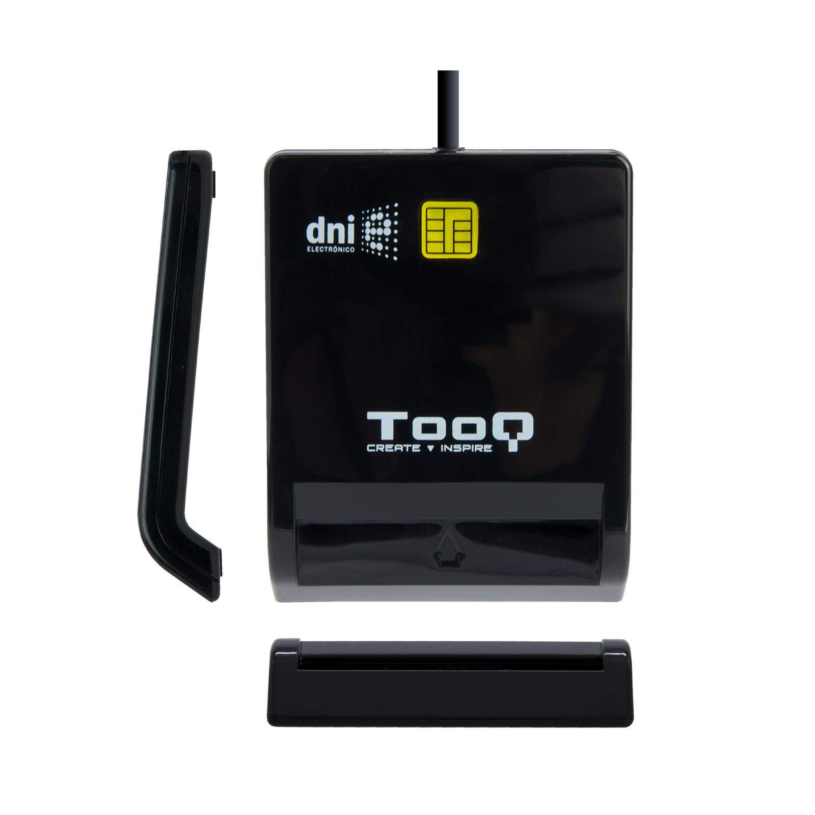 Tooq TQR-210B - Lector Externo de DNI electrónico y Tarjetas Inteligentes (DNIe), USB 2.0, Color Negro y Blanco, 480Mbps.: Amazon.es: Informática