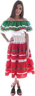 Womens Mexican Fiesta Dress Poplin