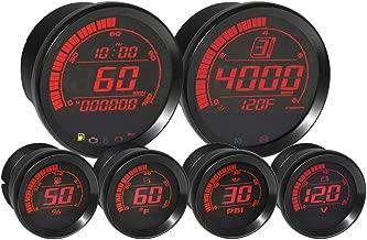 Koso BA050903 HD-02 Kit With Ambient Air Temp (6 Pcs Kit - Black Bezel)