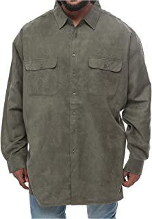 Harbor Bay Green Leather Shirt Neck Shirts For Men