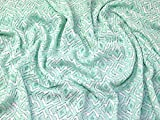 Geometrische gemustert Spitze Kleid Stoff mint