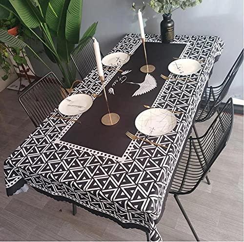 Nappe imperméable Nappe rectangulaire Nappe Table à Manger Couverture cheminée comptoir-1 140X220Cm