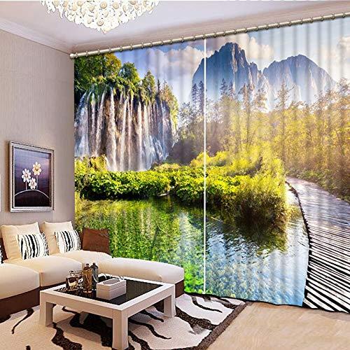 xmydeshoop Cortinas de impresión 3D Cortinas de Ventana 3D Chinas Dormitorio Sala de Estar Impreso escénico 2017 Nuevo CL-D176 250(H) x150(W) Cmx2