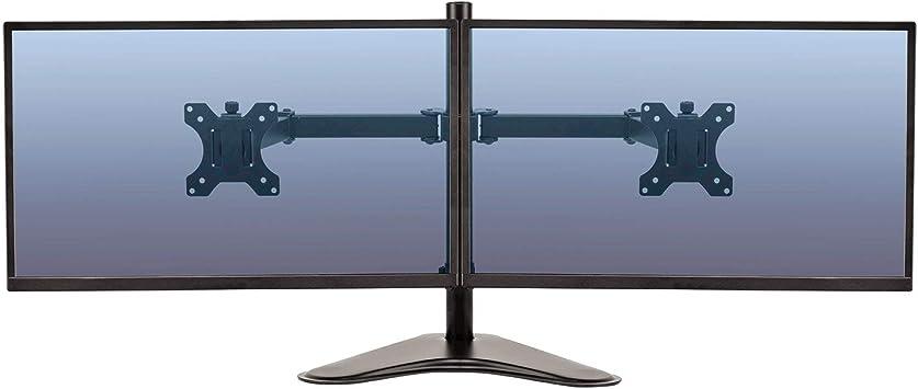 Fellowes Monitorarm Mit Standfuß Höhenverstellbar Professional Series Für 2 Monitore Bis Je 68 5 Cm 27 Zoll Schwarz Bürobedarf Schreibwaren