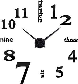 Frameless DIY Wall Clock, Large Modern 3D Mirror Wall Clock, Decoration Sticker Clock, for Home, Living Room, Bedroom, Office