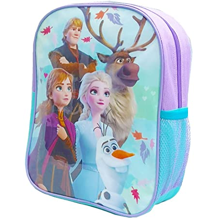 Official Licensed Kids Boys & Girls School Backpack with Side Mesh Pocket (Frozen)