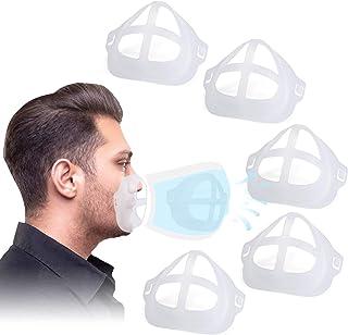 براکت 3D Labato برای پوشیدن ماسک راحت ، براکت ماسک صورت سیلیکونی قاب پشتیبانی داخلی برای ایجاد فضای تنفس بیشتر ، لوازم ماسک قابل استفاده مجدد سازگار با انواع ماسک ها ، 5PCS