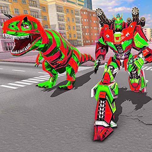 Xtreme Demolition Monster Truck Transform Dino Superhero Robot Simulator: Ultimate Truck Robot Shooting 3D Games 2020