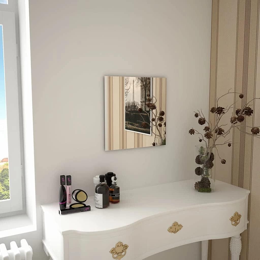 Industry No. 1 Trust vidaXL Wall Mirror Square Livingroom Glass D Bedroom