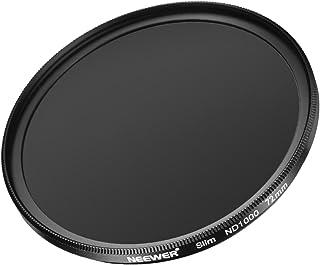 Neewer 72mm NDフィルター 超薄型ND1000 減光10レベル 艶消しの黒いフレーム クリーニングクロス付属 広角レンズに適用 72mm口径レンズに対応