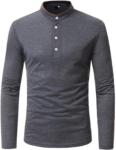 Qiusa Hommes-hauts Clearance Hommes Oxford Formelle Décontractée Costumes Décontractés Tee-Shirts Slim Fit Chemises Chemisier (Couleuré   gris, Taille   CN 2XLUK 16)