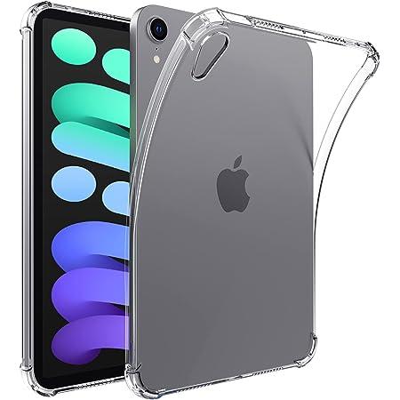 IVSOTEK Clear Case for iPad Mini 6 (2021 Model), Ultra Slim Transparent Soft TPU Back Cover Skin for iPad Mini 6 - Clear