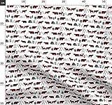 Draußen, Decke Mit Büffeln, Zelten, Jagd, Rot Und