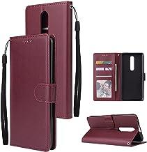 Smartphone Protective Phone Flip Cases Wallet Case For Oppo F11 Pro, Premium PU Leather Wallet Case [Wrist Strap] Flip Fol...