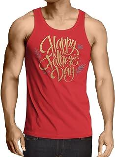 lepni.me 男性用ベスト 父の日お父さん、夫、祖父へのプレゼントに最適。 (L 赤 多色)
