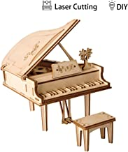 Robotime 3D Grand Piano Wooden Jigsaws Kit Wooden Puzzles DIY Hand Craft Mechanical Toy Gift for Kids Teens Adults