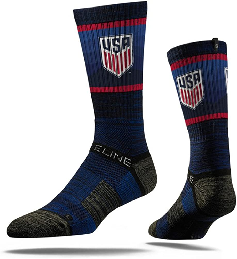 USA Soccer Ranking TOP5 Strideline Youth Dark 1-5 Directly managed store Socks Crew Navy