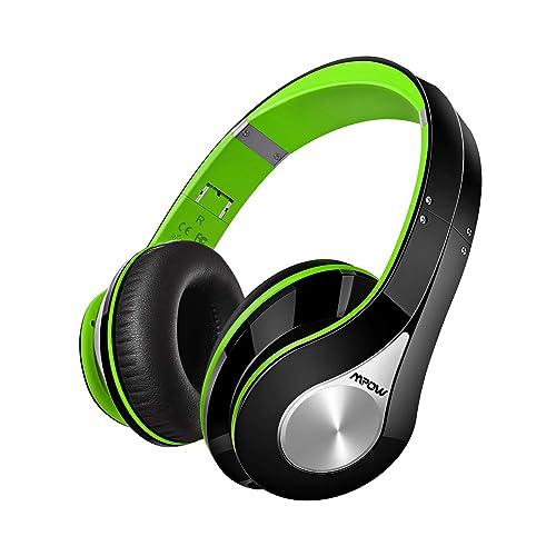 Mpow Casque Bluetooth sans Fil Casque Audio Micro Intégrée Écouteurs Stéréo Oreillette 20 Heures Jeux Continu 250 Heures en Veille CVC 6.0 Suppression du Bruit Bandeau Pliable CSR Signal-vert