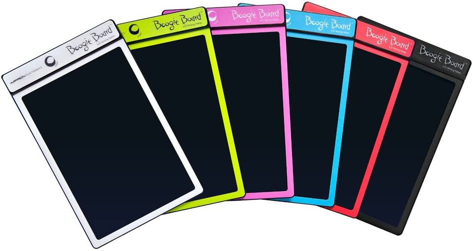 Boogie Board Basics Reusable Writing Pad-Includes 8.5 in LCD Writing Tablet, Instant Erase, Stylus Pen, Cyan