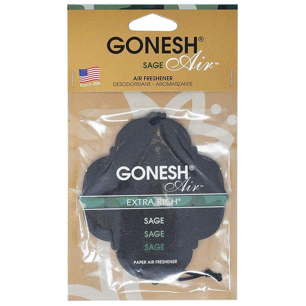 有毒な傾斜大声でGONESH ペーパーエアフレッシュナー セージ
