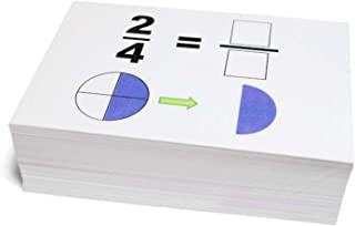 Unbranded New Beginning Graphical Fractions Simplification Math Flash Cards- W/ Pie Charts Best Buy