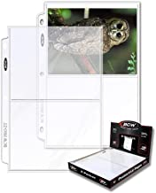 BCW 2-Pocket Clear Protective Pages | Archival Safe Binder Pages 7-1/8