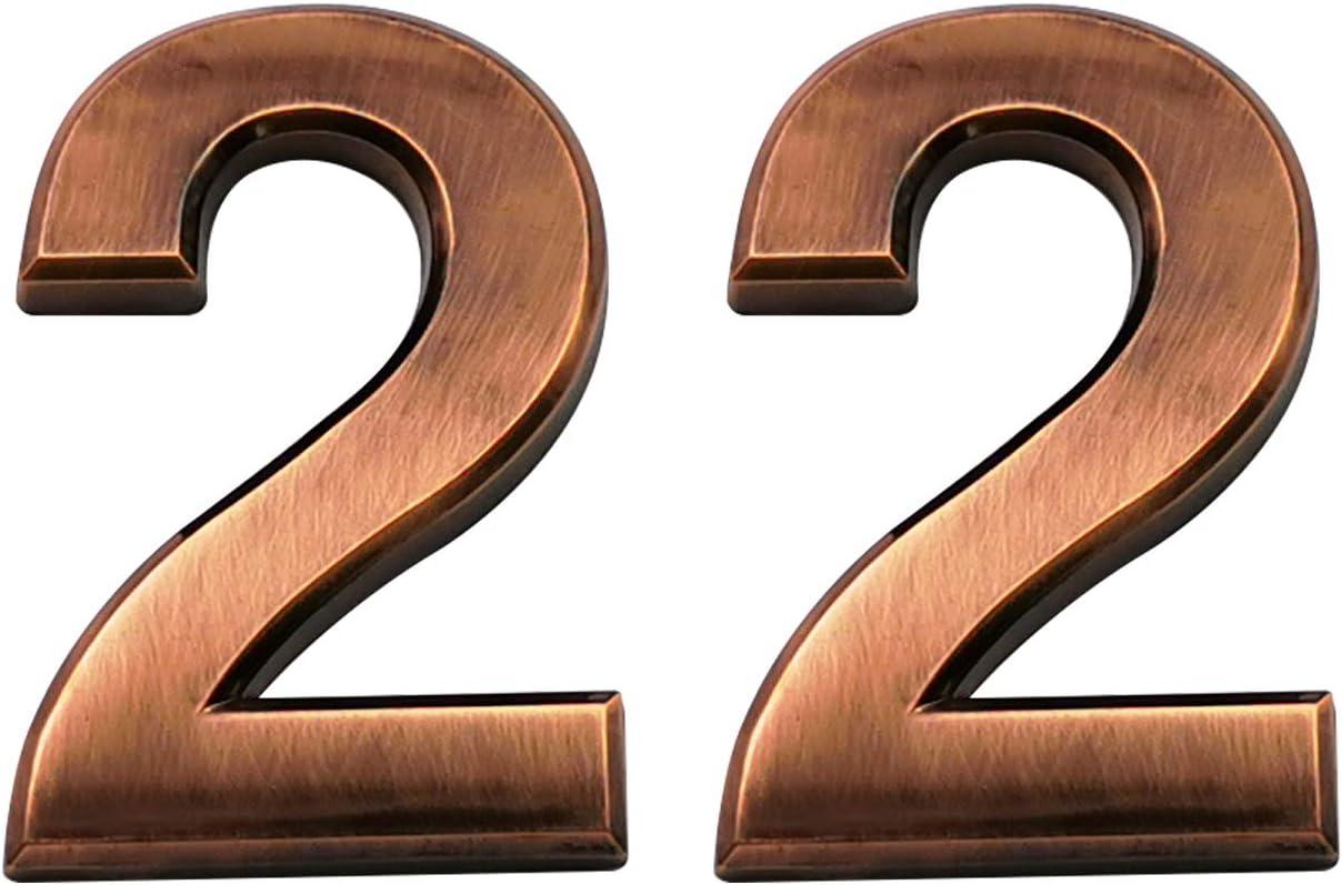 4 St/ück bronzefarbener Buchstabe A-D selbstklebend Adressschilder f/ür Wohnungen Selbstklebende Hausnummern Briefkastennummern Stra/ßent/ürnummern
