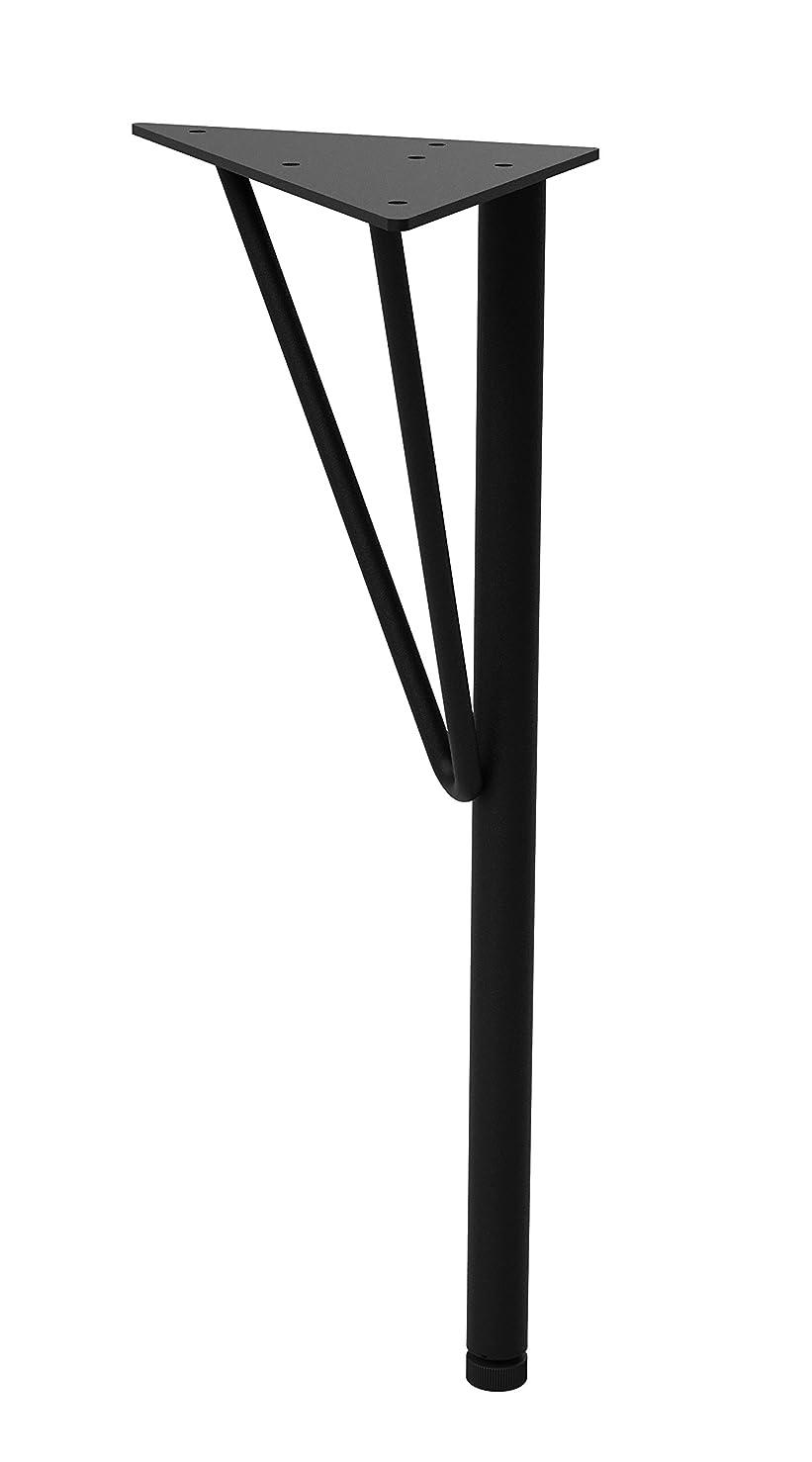 平安伸銅工業 LABRICO スチールテーブル脚 小 DIY TABLE LEG WTK-2 ブラック 高さ37.5cm