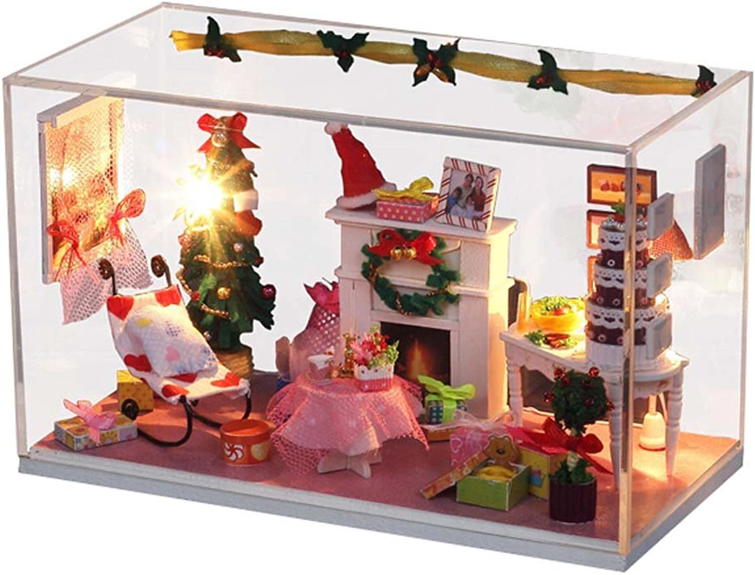 Diy Cute Buildings 3D Puzzle Model Toy Hand-made Toy(Merry Christmas)