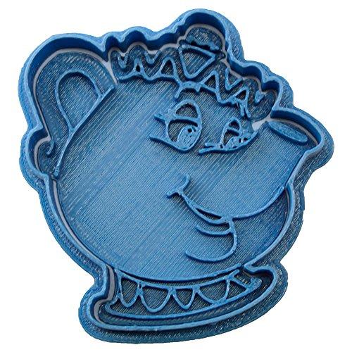 Cuticuter Sra Potts Bella Y Bestia Cortador de Galletas, Azul, 8x7x1.5 cm