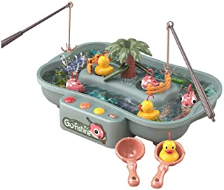 Lovyan Water Circulating Fishing Game Board Play Set with 3 Ducks,3 Fish,2 Water ladles and 2 Fishing Poles, Electronic To...