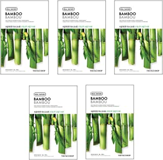 The Face Shop Unisex Real Nature Bamboo Face Mask, 100 g (Pack of 5)