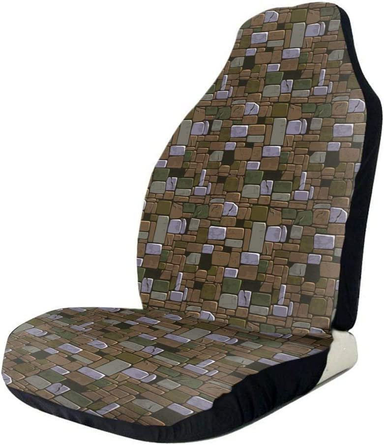 QIUYELONG Old Color Max 69% OFF Stone Wall Bucket Cover Seat Universal Print specialty shop