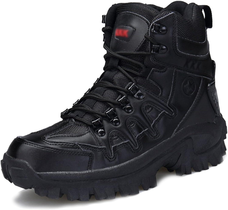 JINGRONG Mnner Lace Ups Armee Militrwüste Kampfstiefel Sicherheit Polizei Stiefel Camping Wandern Klettern Schuhe Special Forces Stiefel
