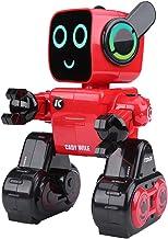 Control de Sonido Robot, 2.4 GHz RC Robot Sing Dance Control de Sonido Control Remoto para Ni?os Inteligente Juguete(Rojo)