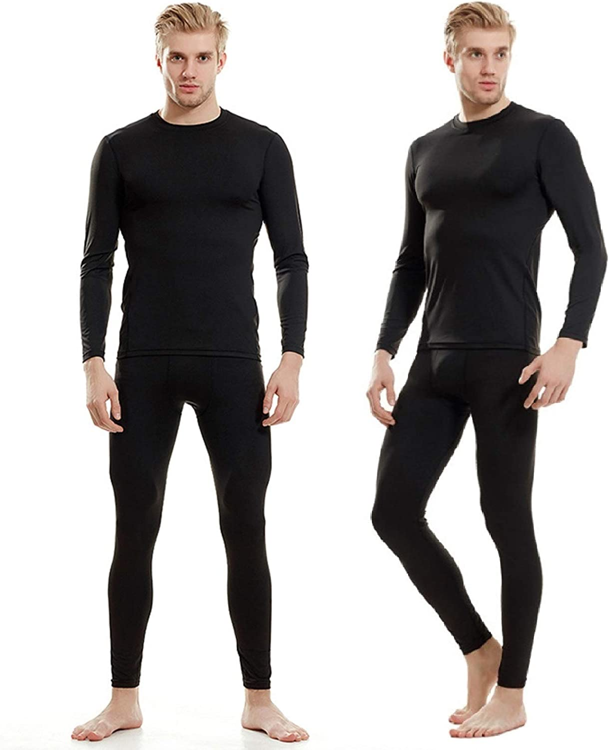 YYIXING Men Thermal Union Suit Quick Dry Winter Thermal Underwear Fitness Flecce Legging Tights Undershirts for Winter