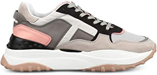HOGAN Women's XXW45B0BB50L9J001S Multicolor Suede Lace-Up Shoes