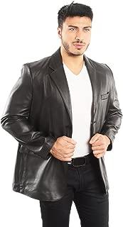 REED Men's Premium Lamb Skin Leather Blazer (Imported)