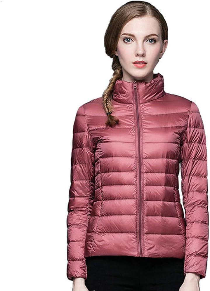Gaozh Down Jacket Women's Winter Fashion Outwear Coat Breathable Warm Lightweight Puffer Padded Jackets