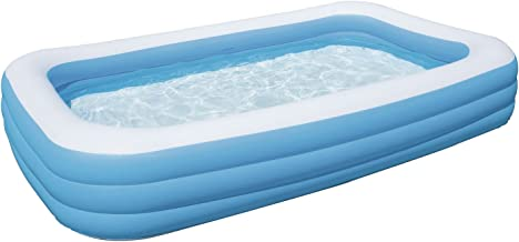 Bestway Family Pool Deluxe, rectangular pool for children, easy to assemble, blue, 305x183x56 cm